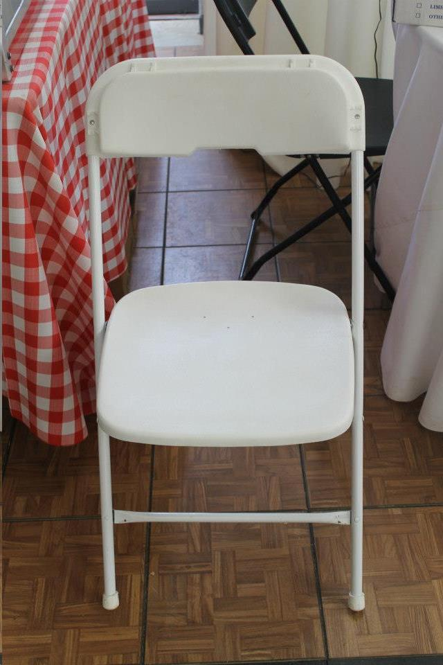 Where to find WHITE SAMSONITE CHAIR in Madison