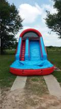 Rental store for INFLATABLE WATER SLIDE - RED AND BLUE in Madison GA