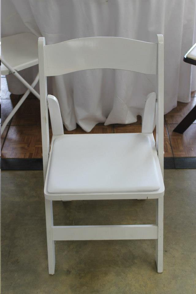 Where to find WHITE WEDDING CHAIR W PAD SEAT in Madison